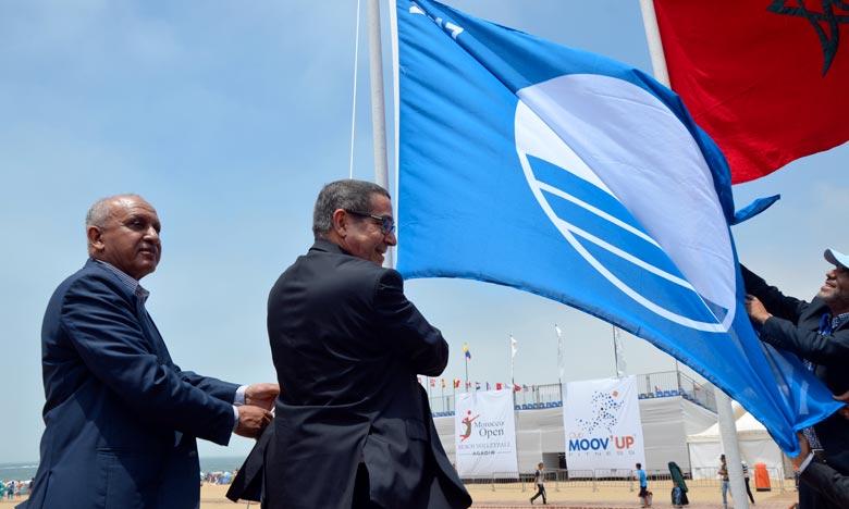 Environnement: Le Pavillon Bleu hissé sur la plage d'Agadir