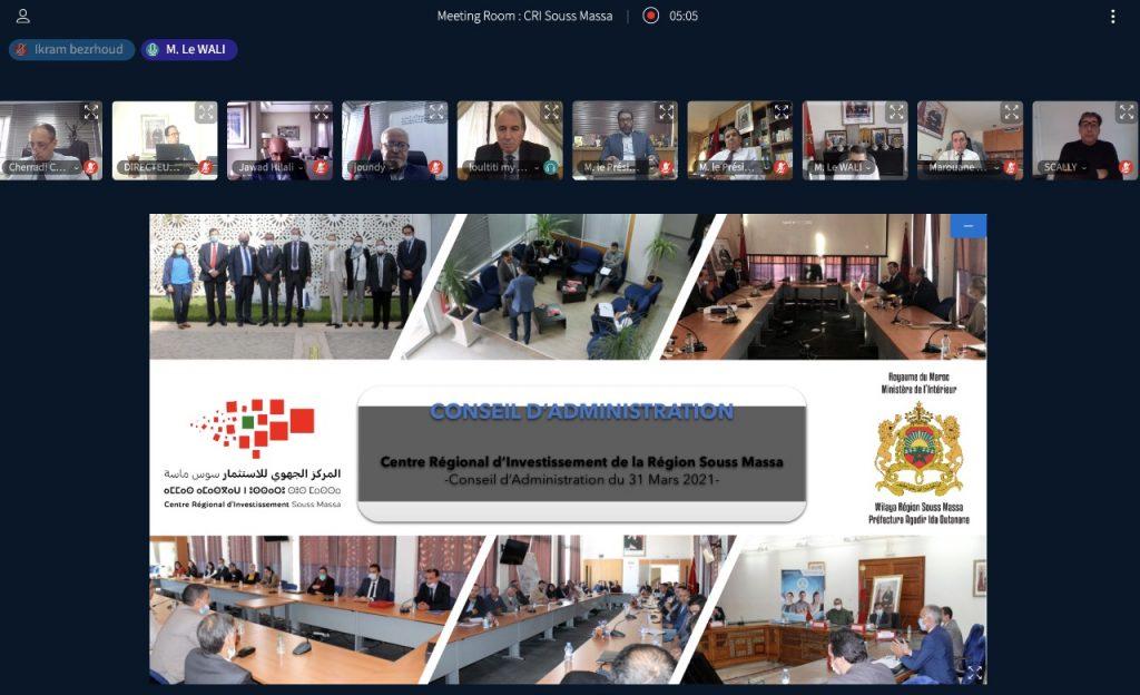 Communiqué de presse: 3ème Conseil d'administration du CRI Souss Massa – 31 Mars 2021